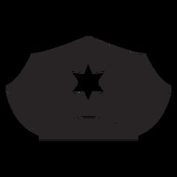 Service cap star silhouette
