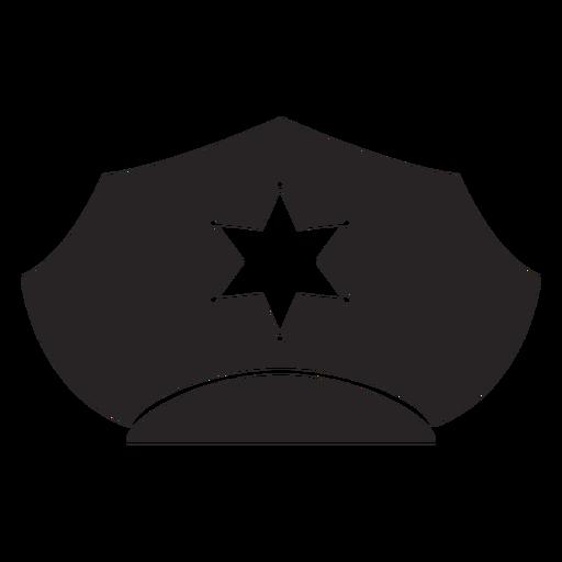 Service cap star silhouette Transparent PNG