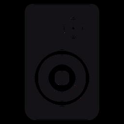 Alto-falante alto-falante silhueta