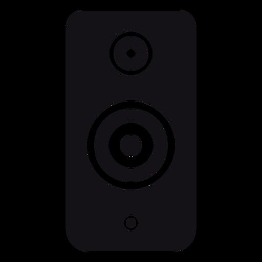Speaker loudspeaker subwoofer silhouette Transparent PNG