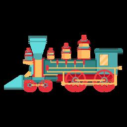 Locomotora de vapor ilustración piloto