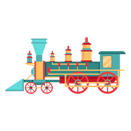Steam locomotive pilot illustration