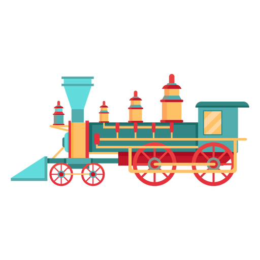 Steam locomotive pilot illustration Transparent PNG
