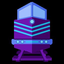 Locomotora de vapor piloto ilustración barandilla