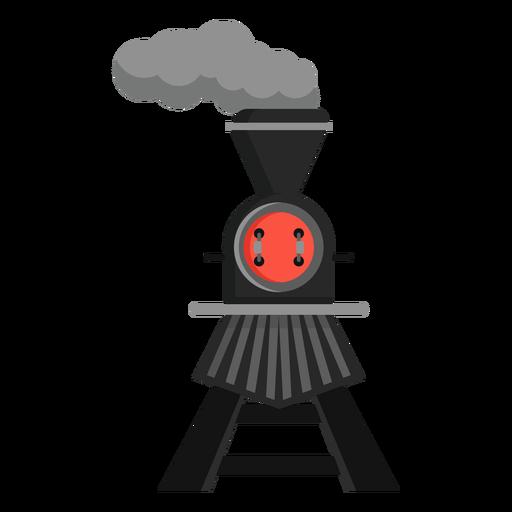 Steam locomotive pilot railway illustration