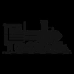 Silhueta piloto de locomotiva a vapor