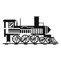 Steam locomotive pilot silhouette