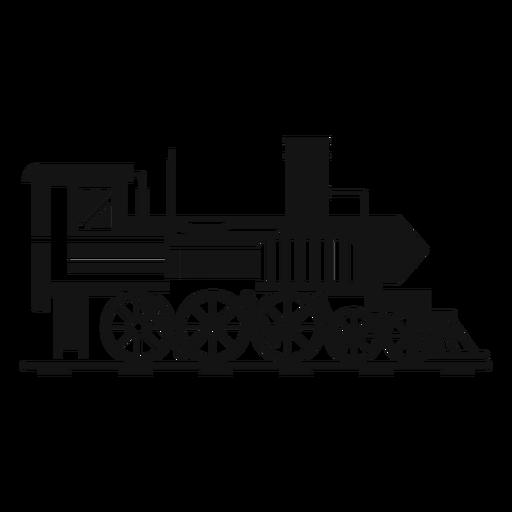 Locomotora de vapor silueta piloto. Transparent PNG