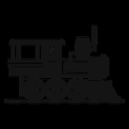 Dampflokomotive Eisenbahnschattenbild