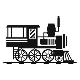 Locomotora de vapor silueta ferroviaria