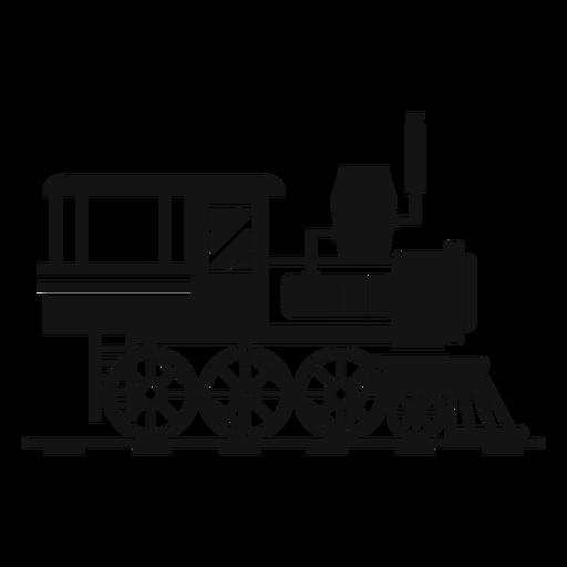 Steam locomotive railway silhouette