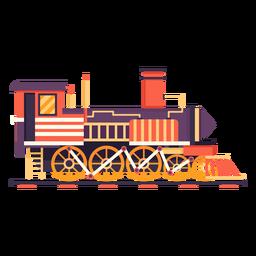 Locomotora de vapor retro piloto ilustración