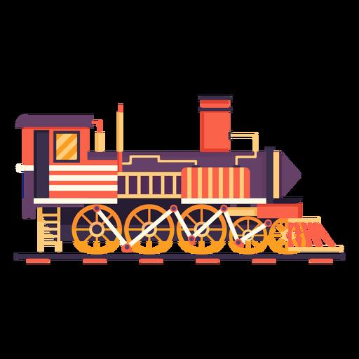 Ilustração de piloto retrô de locomotiva a vapor Transparent PNG