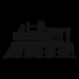 Silhueta retrô de locomotiva a vapor