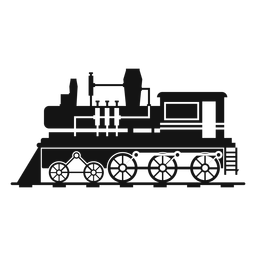 Steam locomotive retro silhouette