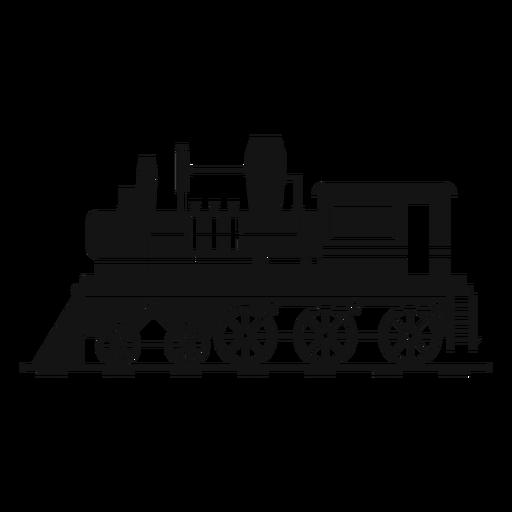 Locomotora de vapor retro silueta Transparent PNG
