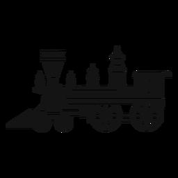 Silhueta de locomotiva a vapor