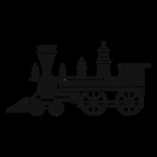 Silueta de locomotora de vapor Transparent PNG