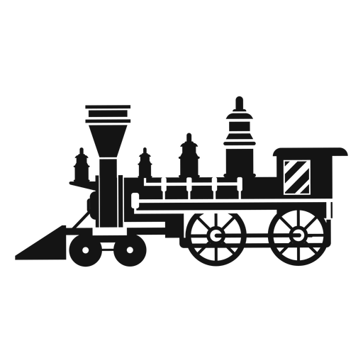 Steam locomotive silhouette Transparent PNG