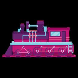 Locomotora de vapor tren piloto ilustración