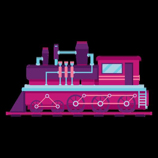 Steam locomotive train pilot illustration