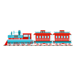 Dampflokomotive Wagon Pilot Illustration
