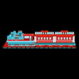 Locomotora de vapor carro piloto ilustración