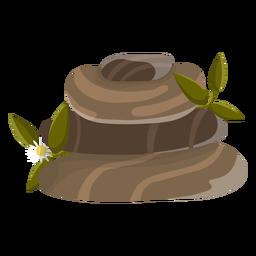 Ilustración de piedra manzanilla
