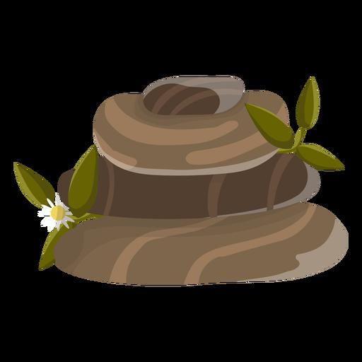 Ilustración de piedra manzanilla Transparent PNG