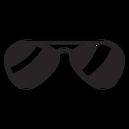Silueta de gafas de sol
