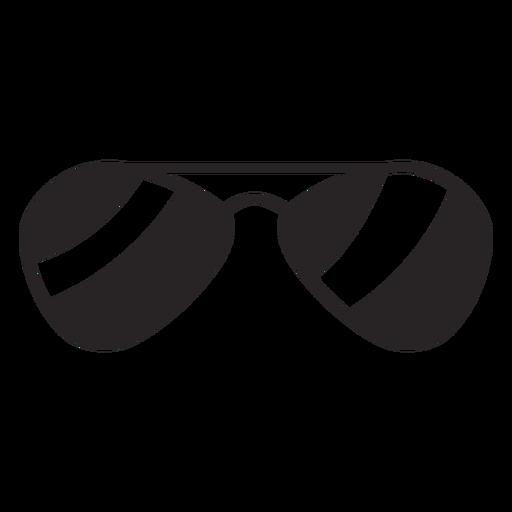Silueta de gafas de sol Transparent PNG