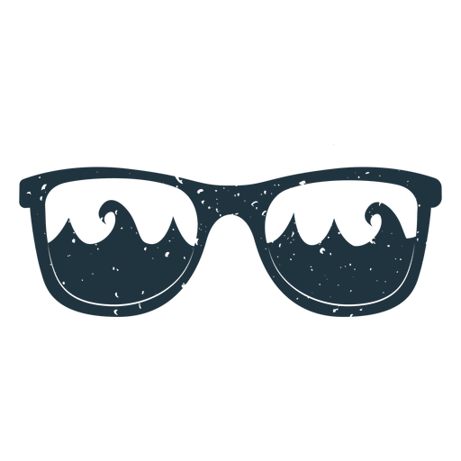 Sunglasses wave illustration