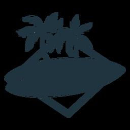 Ilustración de la palma de la tabla de surf
