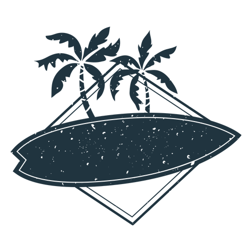 Surfboard palm illustration Transparent PNG