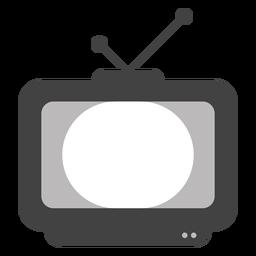 Silueta de pantalla de antena de televisión