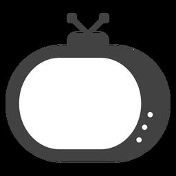 Silhueta de antena de televisão