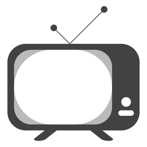Silueta de botón de antena de televisión