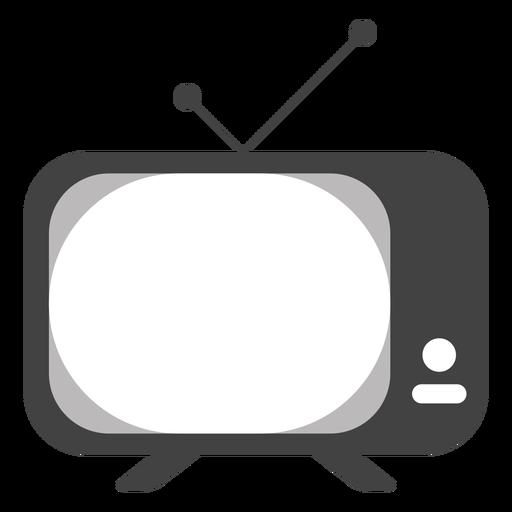 Television antenna button silhouette