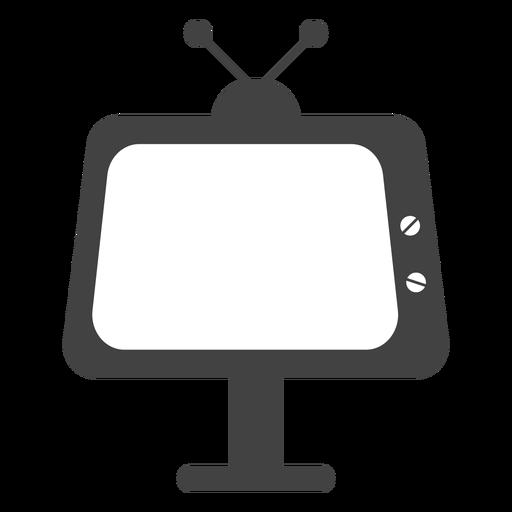 Silhueta de televisão Transparent PNG