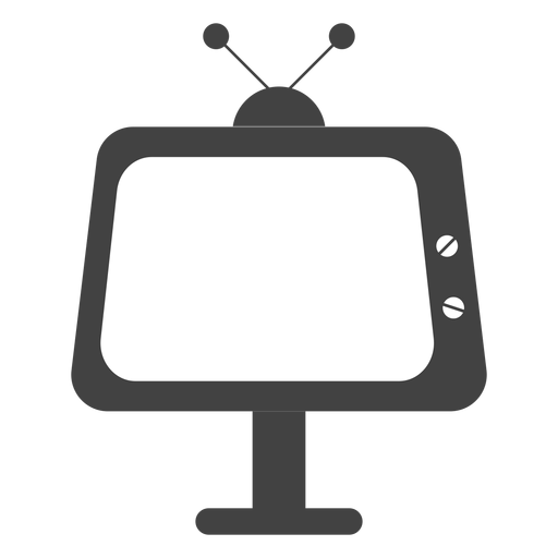 Television silhouette Transparent PNG
