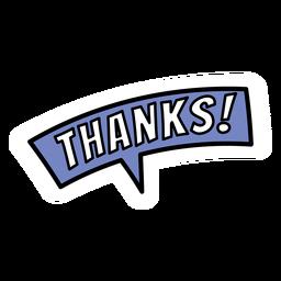 Adesivos de agradecimento