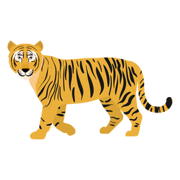 Gato de ilustração de tigre