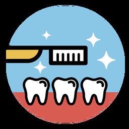 Dentes da escova de dentes