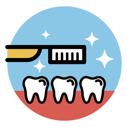 Dientes de cepillo de dientes planos