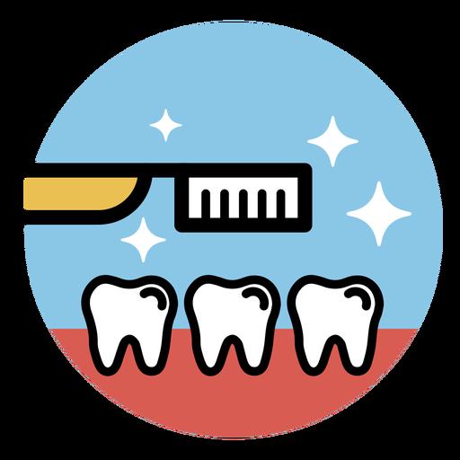 Dientes de cepillo de dientes planos Transparent PNG