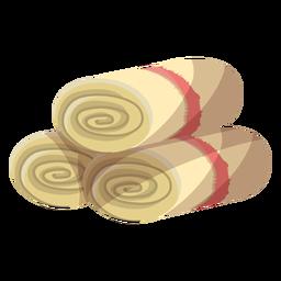 Ilustração de rolo de esteira de toalha