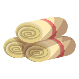 Towel mat roll illustration