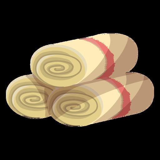Towel mat roll illustration Transparent PNG