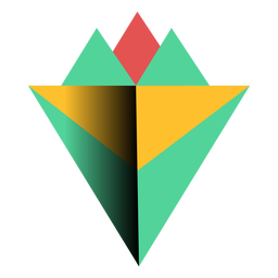 Pyramide-Spitze des Dreiecks 3d flach