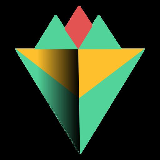 triangle 3d pyramid apex flat